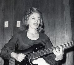 """Carol Kaye - Bassist for Phil Spector and Brian Wilson productions in the 1960s and 1970s.  Guitarist on Ritchie Valens' """"La Bamba"""".  Credited with the bass tracks on several Simon & Garfunkel hits and many film scores by Quincy Jones and Lalo Schifrin."""