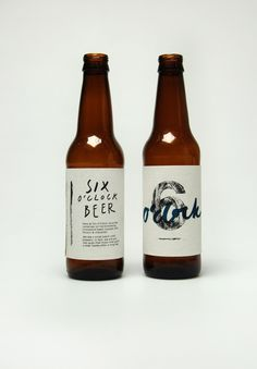 Nice labels for bottled beer, lettering, typography, screen print, texture, design, type, branding, packaging