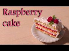 ▶ Simple/Easy Raspberry Cake Slice Charm - Polymer Clay Tutorial - YouTube
