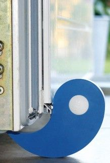 Flux dør- og vindusstopper blå