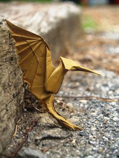 Origami Mockingjay, from Hunger Games.