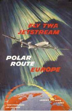 Europe - TWA, Jetstream Polar Route