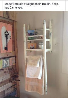 DIY Interior Decoration for small rooms - 20 space-saving decoration ideas - DIY shelf idea Storage Diy Interior, Interior Design, Interior Decorating, Repurposed Furniture, Diy Furniture, Repurposed Wood, Furniture Storage, Unique Furniture, Painted Furniture
