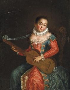 Italian+Master+(18th+century)+-+Portrait+of+young+woman+with+guitar.jpg (263×340)