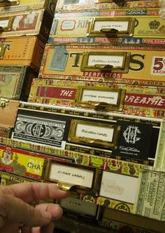 Decorated Cigar Boxes | Simple paper cigar boxes become fashionable storage for the crafter on ...
