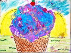 Shaving cream + watercolor paints to make marble art.  This teachers blog is brilliant!