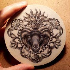 evil_goat_heart_by_zoe_lacchei-d76p8a8.jpg (894×894)