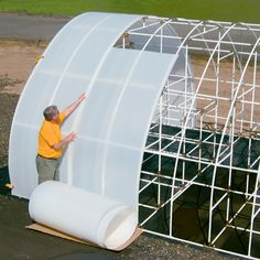 Twin-wall Solexx greenhouse covering in rolls Greenhouse Panels, Greenhouse Cover, Lean To Greenhouse, Greenhouse Gardening, Insulated Panels, Pvc Pipe Projects, Hothouse, Diffused Light, Aquaponics