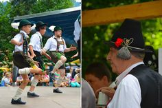 Oberammergau Schuhplattler Gartenfest German folk dancing