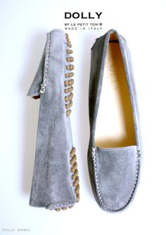 Big girl Dolly shoes in grey suede - Want!