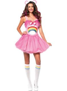 Care Bear Cheer Bear Adult Womens Costume - Are you the essence of perkiness? Now you can be prettily perky in the Officially Licensed Care Bear Cheer Bear Adult Women's Costume. Care Bears Halloween Costume, Warm Halloween Costumes, Care Bear Costumes, Bear Halloween, Mardi Gras Costumes, Halloween Fancy Dress, Adult Costumes, Costumes For Women, Christmas Costumes