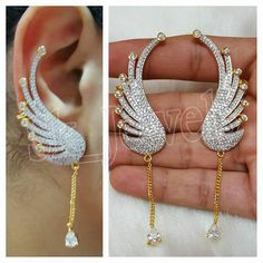 3.70ctw NATURAL DIAMOND 14K YELLOW GOLD WEDDING ANNIVERSARY DANGLER  EARRING  #Sk_Jewels #DropDangle