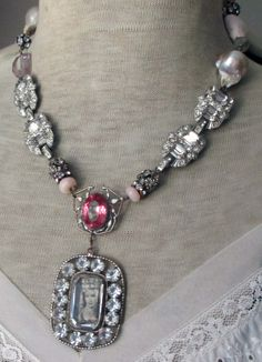 Marie's fantasy vintage assemblage necklace by The French Circus: Windows
