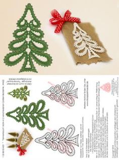"422 Klöppelbrief ""Tannenbaum"" Motiv in 2 verschiedenen Größen autour du tissu déco enfant paques bébé déco mariage diy et crochet Christmas Placemats, Christmas Crafts, Bobbin Lace Patterns, Crochet Patterns, Doily Art, Crochet Snowflake Pattern, Christmas Signs Wood, Diy Couture, Holiday Crochet"