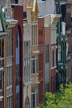 Colorful Philly row homes Best Vacation Destinations, Philadelphia Pa, Us History, Pennsylvania, The Row, Past, The Neighbourhood, Homes, House Design