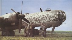 Heinkel He-177 Greif four-engined bomber. One of the largest bombers designed for the luftwaffe. Its was designed to dive bomb and skit. The two engines on either wing were siamesed together and this caused extreme overheating problems which were never resolved and therefore was never put in active duty