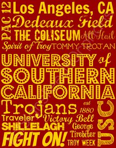 A piece of artwork that is giftwrapped for free, AND feeds an orphan for a month? Fight ON!! University of Southern California Subway by EstSignsFeedsOrphans, $30.00