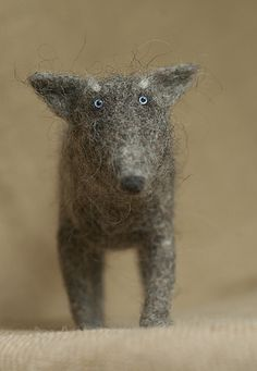 needle felted wolf by vriad_lee, via Flickr