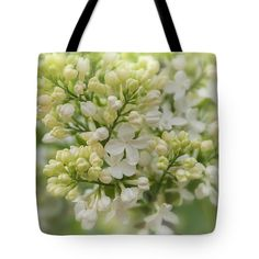Anna Matveeva The Fog Of White Lilac Photographers   Background Tote Bag featuring the photograph The Fog Of White Lilac by Anna Matveeva   #AnnaMatveeva #green #spring #lilac #FineArtPhotography #ArtForHome #FineArtBag