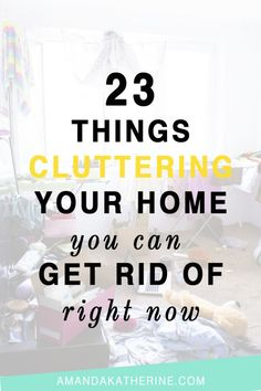 Clutter totally stresses me out and actually makes keeping our homes organized more difficult. I'm striving to live simpler and only keep things we use and love. This post was so helpful in pinpointing specific items that are cluttering my home! Click to see the entire list