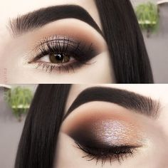 The smoky eyes are one of the most famous and cutting-edge make-up today: Smokey Eyes Makeup Look: makeup look: smokey makeup: eye makeup: glitter makeup Makeup Goals, Makeup Inspo, Makeup Inspiration, Beauty Makeup, Makeup Kit, Eyeshadow Tips, Eyeshadow Makeup, Summer Eyeshadow, Dark Eyeshadow