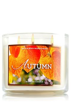 Autumn 3-Wick Candle - Home Fragrance 1037181 - Bath & Body Works