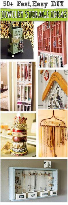 Over 50+ Creative DIY Jewelry Storage, Organization, Display @savedbyloves