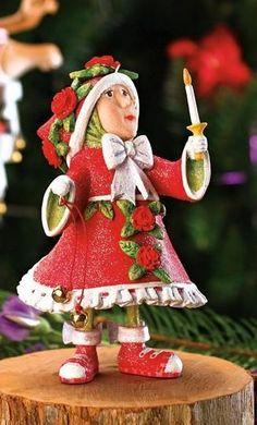 Patience Brewster Krinkle Dash Away Donna' Light Reindeer Elf Christmas Ornament
