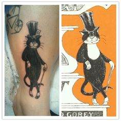 love edward gorey tattoos!