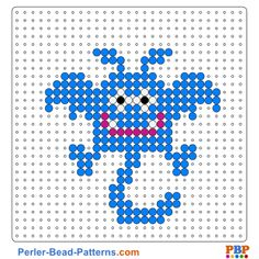Monster perler bead pattern. Download a great collection of free PDF templates for your perler beads at perler-bead-patterns.com