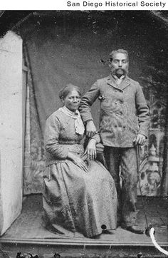 Unidentified African American couple, ca 1876, San Diego History Center