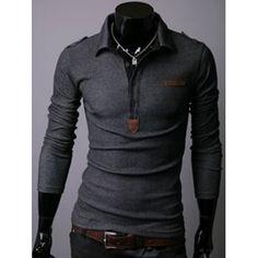 GET $50 NOW | Join Dresslily: Get YOUR $50 NOW!http://m.dresslily.com/turndown-collar-half-button-long-sleeve-tee-product1863822-html-product1863822.html?seid=ddA2hl8EbMC8vr87nlj6579KQO