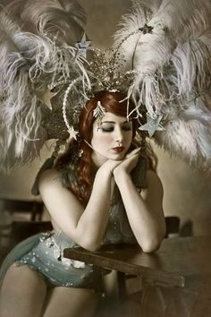 The fabulous Vicky Butterfly, a beautiful burlesque dancer and performance artist as well as a writer and costume designer. Burlesque Show, Vintage Burlesque, Burlesque Costumes, Vintage Circus, Carnival Costumes, Cabaret, Folies Bergeres, Dark Circus, Circus Circus