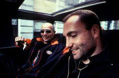 "Mads Mikkelsen and Kim Bodnia, 1996, publicity still for Nicolas Winding Refn's debut film ""Pusher"""