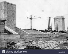Architecture of the Third Reich: Nuremberg, Nazi Party Rally Ground under construction, 1933