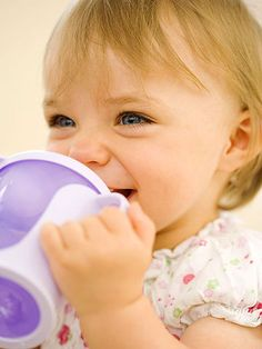 Experts say toddlers should make the switch from bottle to sippy cup between 12 and 18 months. These expert tips will help in the transition: http://www.parents.com/toddlers-preschoolers/development/transitioning-to-a-sippy-cup/?socsrc=pmmpin130620pttSippyCup