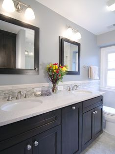 My Bathroom Colors For The Walls Trim And Cabinet Grey Walls - Black mirrored bathroom cabinet for bathroom decor ideas