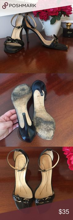 """Kate Spade Black Strappy Slingbacks - size 9.5 Kate Spade Black Strappy Slingbacks - size 9.5 - 3.5"""" heel - all buckles and straps in good working condition kate spade Shoes Heels"""