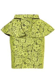 .lime lace peplum skirt.