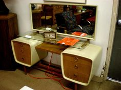 The Atomic Powered Bedroom Dresser I want the WHOLE SET!