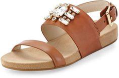 love this  -- MICHAEL Michael Kors Luna Crystal Sandal, Luggage  -- http://www.hagglekat.com/michael-michael-kors-luna-crystal-sandal-luggage/