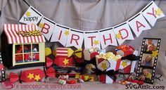Movie themed birthday party #svgattic #svg