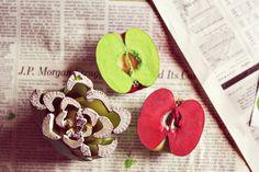 Apple + Celery Stalk Stamps