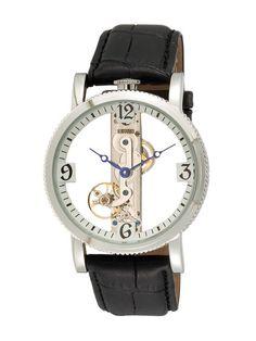 Men's Round Black & Silver Watch by Akribos XXIV on Gilt.com $99