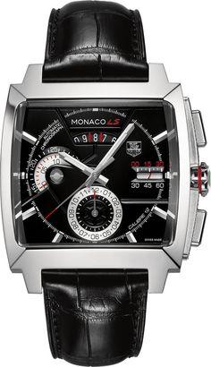 TAG Heuer Watch Monaco Chronograph dial-colour-black luxury movement-automatic water-resistant-100m