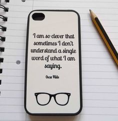 oscar wilde quote case for iphone by literary emporium | notonthehighstreet.com #fathersday