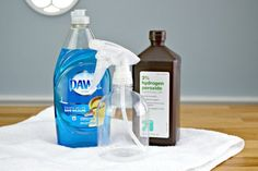 Removing laundry stains is simple. You only need a couple of household ingredients to make your own stain removal spray that works in minutes!