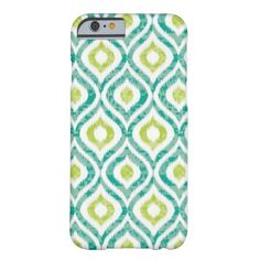 Teal Yellow Ikat Tribal pattern iPhone 6 Barely There iPhone 6 Case