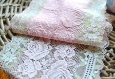 1 yard 17 cm wide pink lace trim I Shabby chic lace trim I Bridal lace trim I Border lace trim I Lace trim I Pink lace trim I DIY lace trim by SixthCraft on Etsy