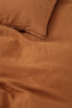 Washed Linen Duvet Cover Set - Light brown - Home All Washed Linen Duvet Cover, Beige Bed Linen, Orange Duvet Covers, Duvet Cover Sets, Mustard Bedding, Matching Bedding And Curtains, Window Bed, Window Seats, Lit Simple
